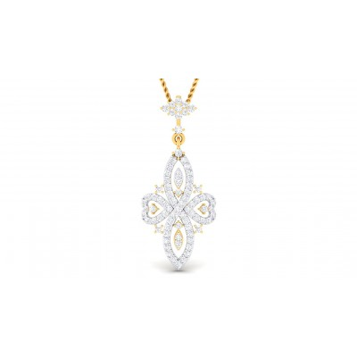 BIMALA DIAMOND FLORAL PENDANT in 18K Gold
