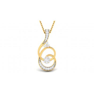 LEILA DIAMOND FASHION PENDANT in 18K Gold