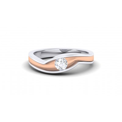 ZAINA DIAMOND BANDS RING in 18K Gold