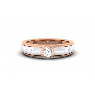 DAILA DIAMOND BANDS RING in 18K Gold