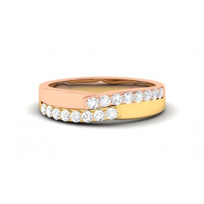 TARA DIAMOND BANDS RING in 18K Gold