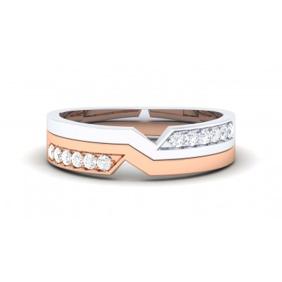 ZIA DIAMOND BANDS RING in 18K Gold