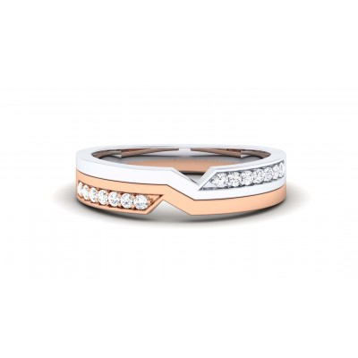 PAVANI DIAMOND BANDS RING in 18K Gold