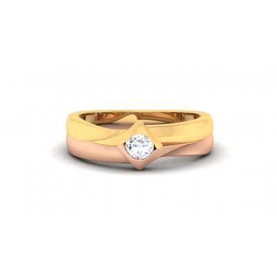 SAROJA DIAMOND BANDS RING in 18K Gold