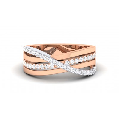 BINA DIAMOND BANDS RING in 18K Gold