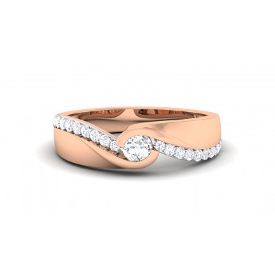 MARIELA DIAMOND BANDS RING in 18K Gold