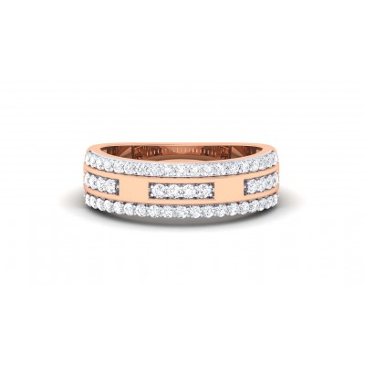 KATELYN DIAMOND BANDS RING in 18K Gold
