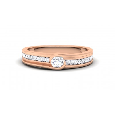 ANIYA DIAMOND BANDS RING in 18K Gold