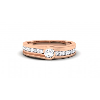 RASIKA DIAMOND BANDS RING in 18K Gold