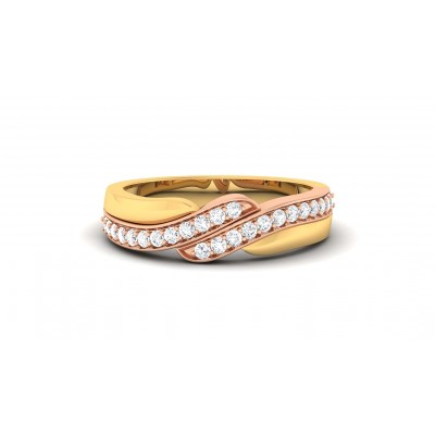 KOMALA DIAMOND BANDS RING in 18K Gold