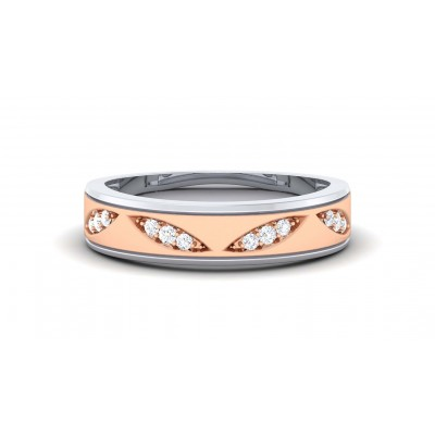 NOELANI DIAMOND BANDS RING in 18K Gold