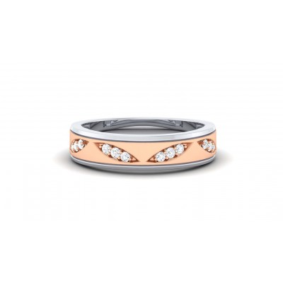 SUMITHA DIAMOND BANDS RING in 18K Gold
