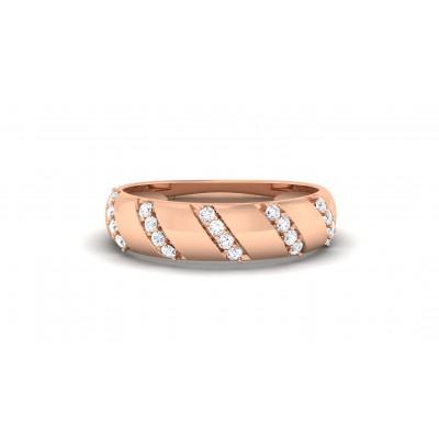ALDA DIAMOND BANDS RING in 18K Gold