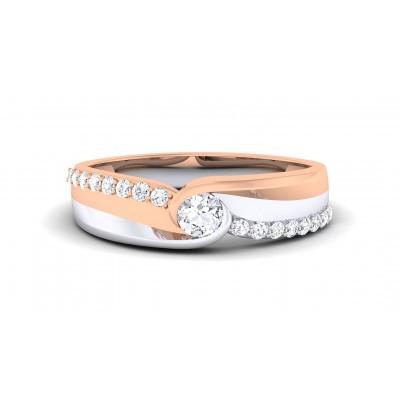 BLAKE DIAMOND BANDS RING in 18K Gold