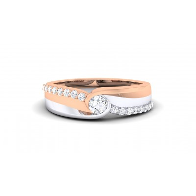 PANINI DIAMOND BANDS RING in 18K Gold
