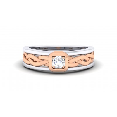 RYDER DIAMOND BANDS RING in 18K Gold