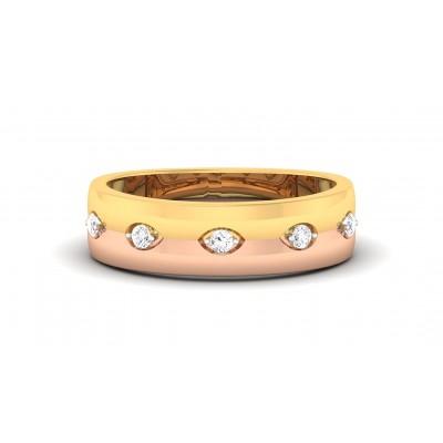 PRIYALA DIAMOND BANDS RING in 18K Gold