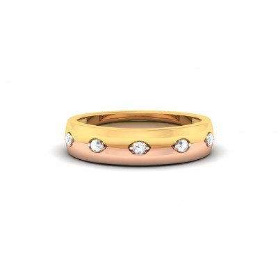 HARPER DIAMOND BANDS RING in 18K Gold