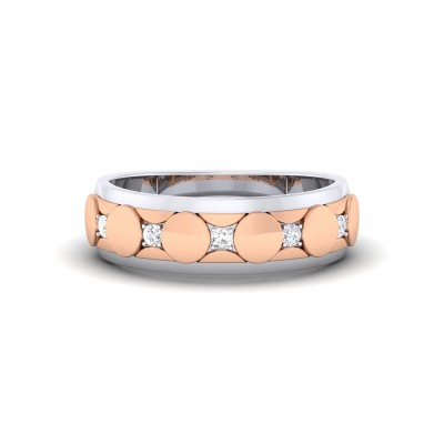 DAFNE DIAMOND BANDS RING in 18K Gold
