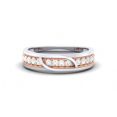 LIYA DIAMOND BANDS RING in 18K Gold