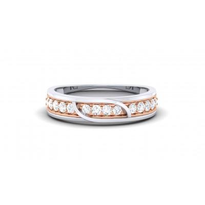 NISHI DIAMOND BANDS RING in 18K Gold