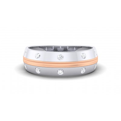 TRIPTI DIAMOND BANDS RING in 18K Gold