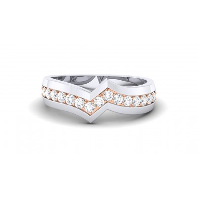 AMOR DIAMOND BANDS RING in 18K Gold