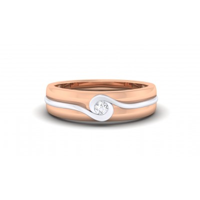 SAWYER DIAMOND BANDS RING in 18K Gold