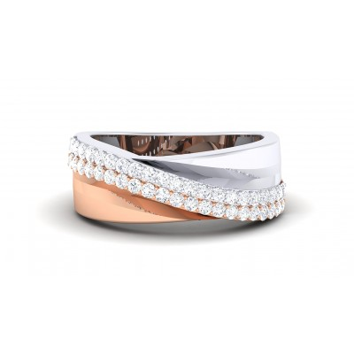 CHAMPA DIAMOND BANDS RING in 18K Gold