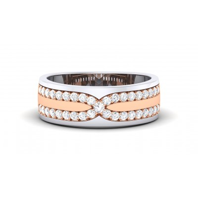 SAMITA DIAMOND BANDS RING in 18K Gold