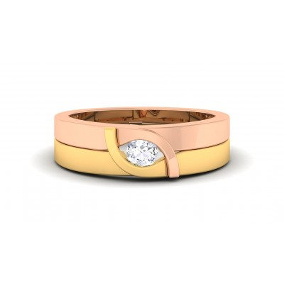 SUMATI DIAMOND BANDS RING in 18K Gold