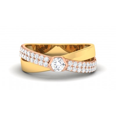 MELODY DIAMOND BANDS RING in 18K Gold