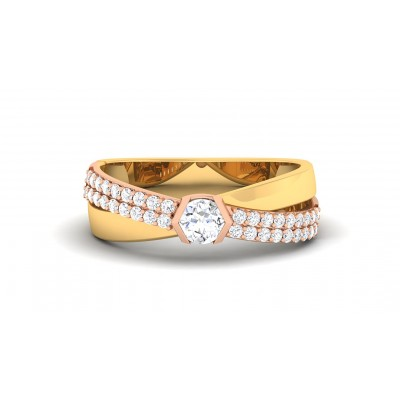 TONI DIAMOND BANDS RING in 18K Gold