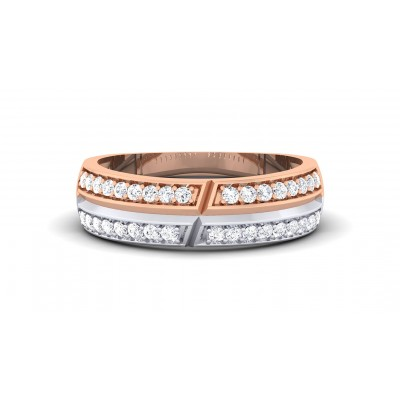 TANAYA DIAMOND BANDS RING in 18K Gold