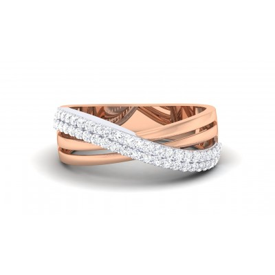 ANANDI DIAMOND BANDS RING in 18K Gold