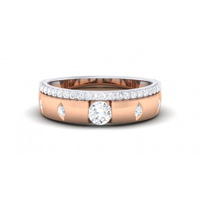LAYLAH DIAMOND BANDS RING in 18K Gold