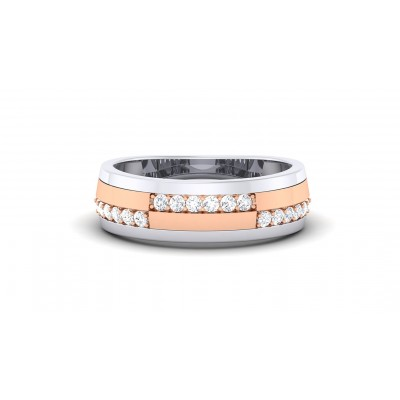 CECILIA DIAMOND BANDS RING in 18K Gold