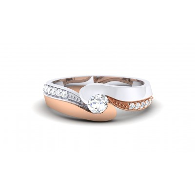 SHANVI DIAMOND BANDS RING in 18K Gold