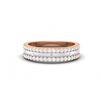 SURYA DIAMOND BANDS RING in 18K Gold