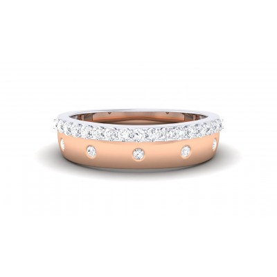AMAL DIAMOND BANDS RING in 18K Gold