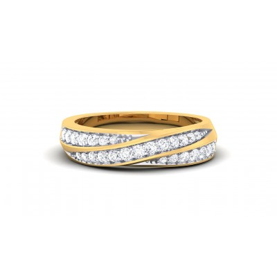 GOLDIE DIAMOND BANDS RING in 18K Gold