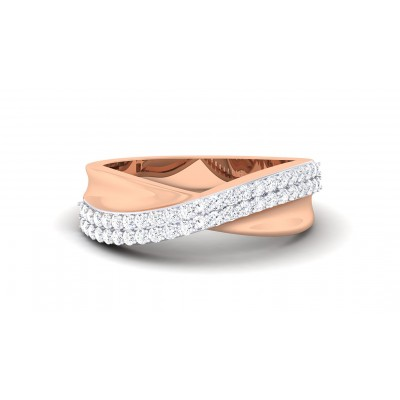STACEY DIAMOND BANDS RING in 18K Gold
