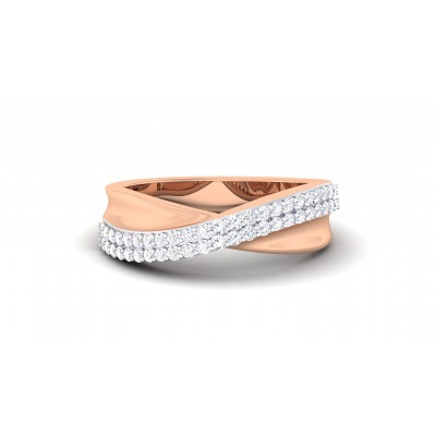 PAKHI DIAMOND BANDS RING in 18K Gold