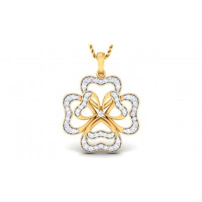 SHEA DIAMOND HEARTS PENDANT in 18K Gold