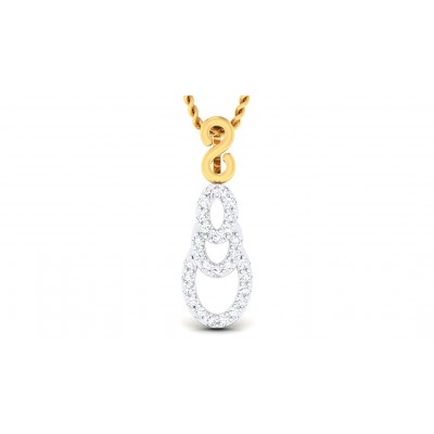 ALYSE DIAMOND FASHION PENDANT in 18K Gold