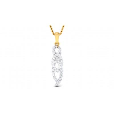 AMIA DIAMOND FASHION PENDANT in 18K Gold