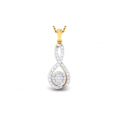 CARMEN DIAMOND FASHION PENDANT in 18K Gold