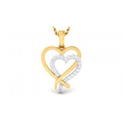 NIPA DIAMOND HEARTS PENDANT in 18K Gold