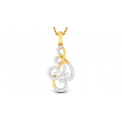 LEIA DIAMOND FASHION PENDANT in 18K Gold