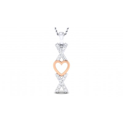 MAREN DIAMOND HEARTS PENDANT in 18K Gold